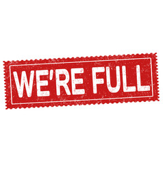 were full grunge rubber stamp vector image