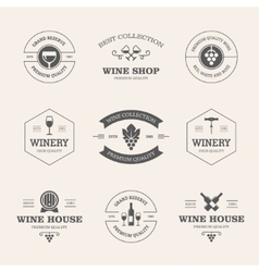 Wine badges and labels vector image vector image