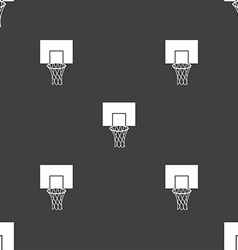 Basketball backboard icon sign seamless pattern on vector