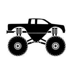 bigfoot truck vector image