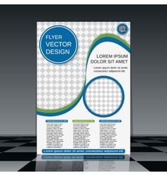 Brochure cover design vector image