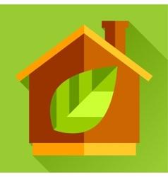 go eco green flat icon vector image