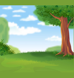 green landscape in the summer sunny day vector image vector image