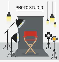 photo studio interior vector image vector image