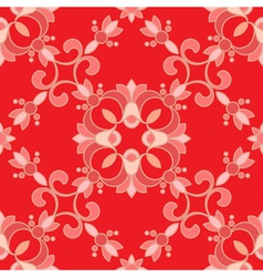 Red ormanent vector image