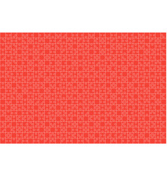 Red puzzles pieces jigsaw - background vector
