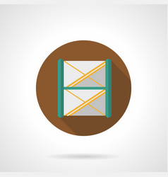 stage frame construction flat round icon vector image vector image