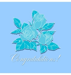 congratulation with roses vector image