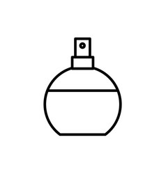 perfume line icon sign on vector image vector image