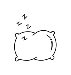 pillow line icon vector image