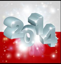 2014 polish flag vector image