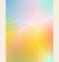 abstract circles of color and transparency vector image