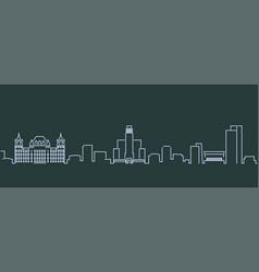 albany single line skyline profile vector image