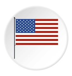 American flag icon flat style vector image