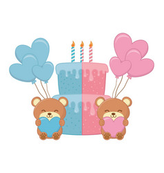 babirthday party elements vector image