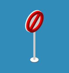 ban road sign stop traffic signal prohibited red vector image