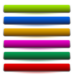 banner button shapes with 6 different colors vector image