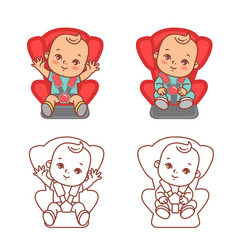 basitting on car seat sticker for car vector image