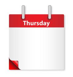 Blank thursday date vector