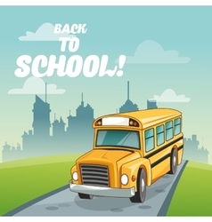Bus back to school design vector