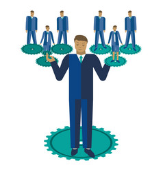 business teamwork business vector image