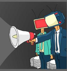 Cartoon media propaganda vector