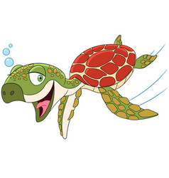 cartoon turtle animal vector image
