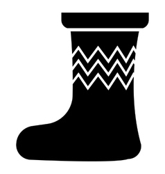 Christmas sock icon simple style vector image