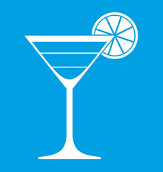 Cocktail icon white vector