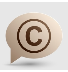 Copyright sign Brown gradient icon vector