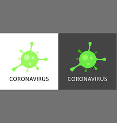 Coronavirus logo isolated on white and black vector