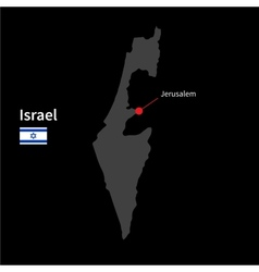 Detailed map of Israel and capital city Jerusalem vector image