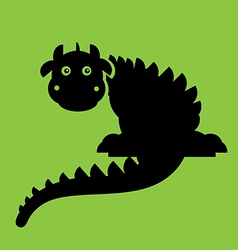 Dragon Flat vector image