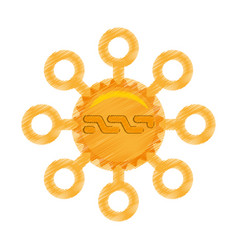 drawing nxt coin web icon vector image