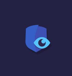 eye and shield logo icon vector image