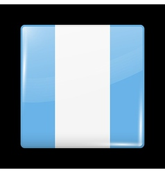 Flag of Guatemala Glossy Icon Square Shape vector image