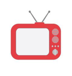 flat classic television radio icon clip art vector image
