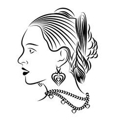 girl 6 vector image