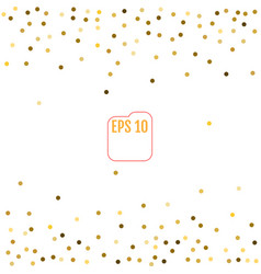 Gold glitter background polka dot vector