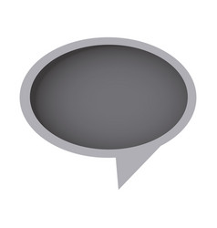 Grayscale round chat bubble icon vector