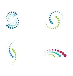 halftone circle dots vector image