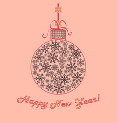 happy new year background christmas ball of vector image