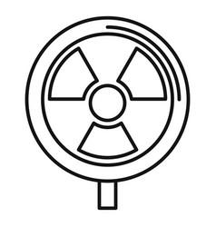 Hazard radiation icon outline style vector