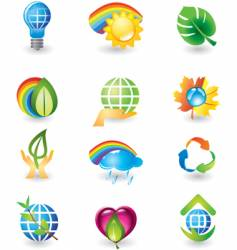 icons nature vector image vector image