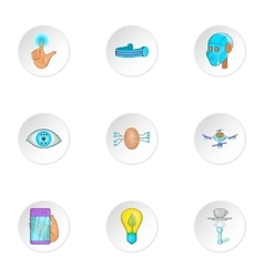 Innovation icons set cartoon style vector