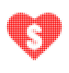 Love price halftone dotted icon vector