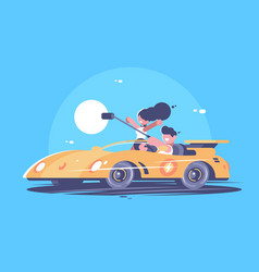 Make selfie from car vector