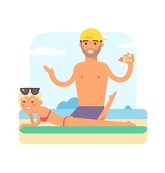 Male masseur vector image