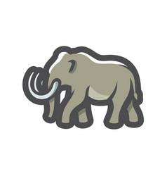 Mammoth ancient animal icon cartoon vector