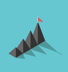 mountains flag goal concept vector image